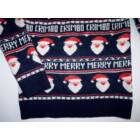 128-as Next kötött karácsonyi pulóver Mikulás mintával