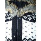 104-es csinos bélelt kardigán, kötött kapucnis kabát