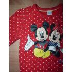 74-es C&A Disney Mickey és Minnie mintás átmeneti pamut felső