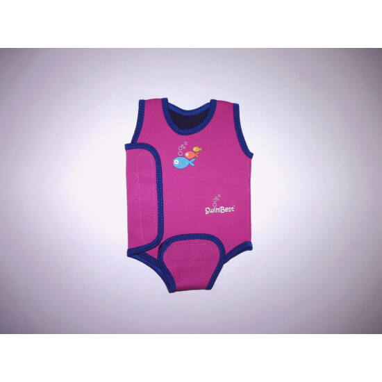 Halacskás neoprén kombi - kislány baba úszóruha babaúszáshoz 0-6 hó
