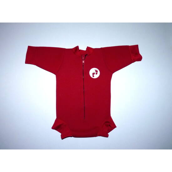Piros neoprén melegen tartó fürdőruha, Snug body - L