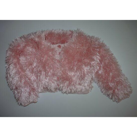 110/116-os gyönyörű pihe-puha szőrmés alkalmi bolero
