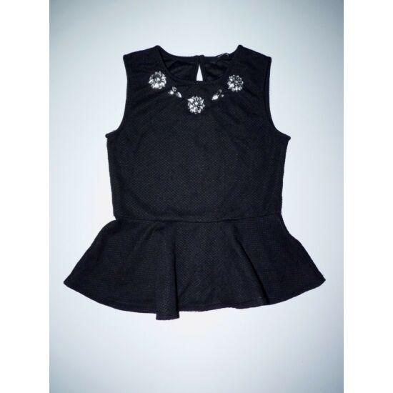 128 134-es divatos fekete alkalmi peplum felső - Pólók 3e41e5f2c2