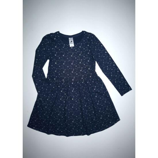 122-es C&A ezüst csillagos kék ruha
