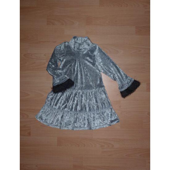 116-os ezüstszínű, különleges, hosszú ujjú alkalmi ruha