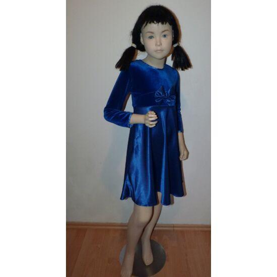 122/128-as gyönyörű, kék alkalmi ruha