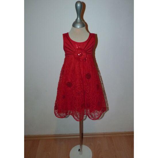 80/86-os gyönyörű Marks&Spencer piros, latinos alkalmi ruha