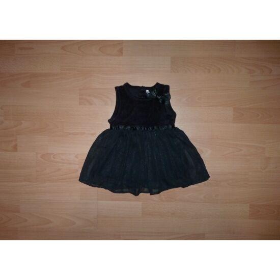 86-os gyönyörű, fekete-ezüst alkalmi ruha, kis boszi ruha