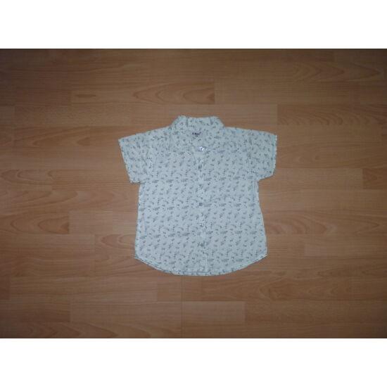 253268225c 128-as rövid ujjú apró virág mintás fehér blúz - Pólók, felsők ...
