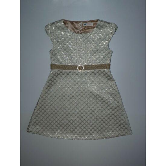 128-as gyönyörű, arany színű H&M alkalmi ruha