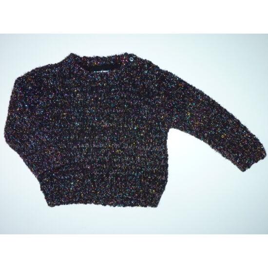 86/92-es M&S csillogós alkalmi pulóver