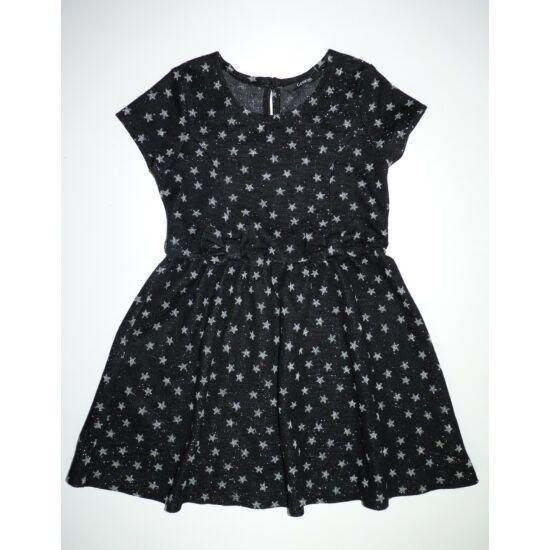 104/110-es gyönyörű fekete ezüst csillagos alkalmi ruha