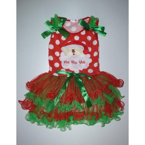 af8a6e0b2c 86/92-es tündéri tüllös karácsonyi Mikulás kislány ruha - 86 ...