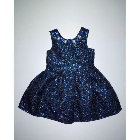 104-es gyönyörű kék mintás alkalmi ruha - 104 - Lurkoshop gyerekruha ... 818480be4b