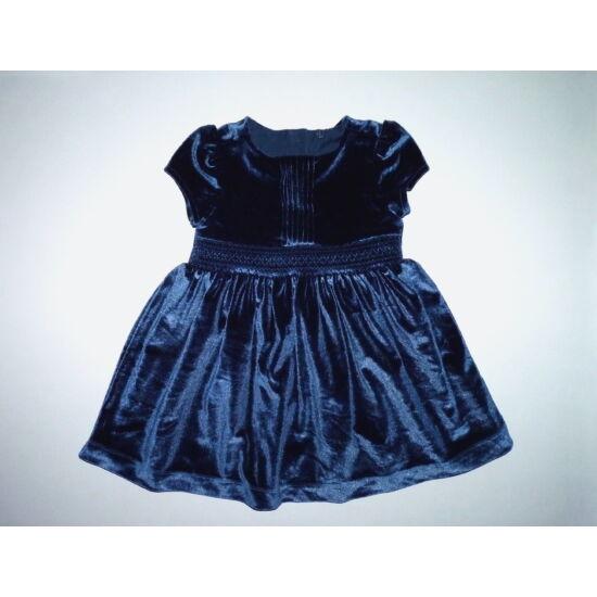 80/86-os TU gyönyörű kék tükörbársony alkalmi ruha