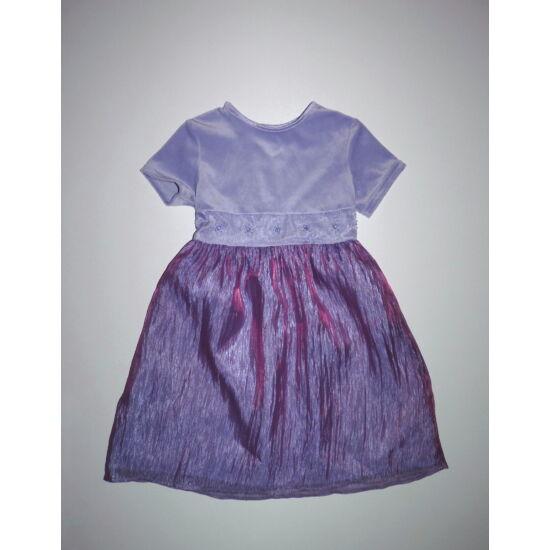 98-as gyönyörű lila fényes alkalmi kislány ruha