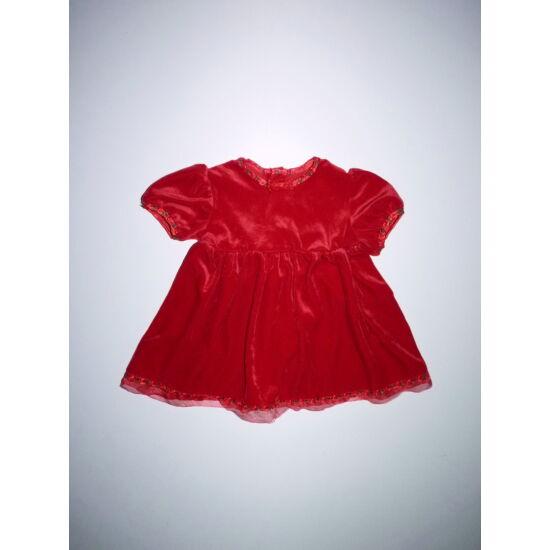 74-es gyönyörű piros alkalmi ruha apró virágokkal