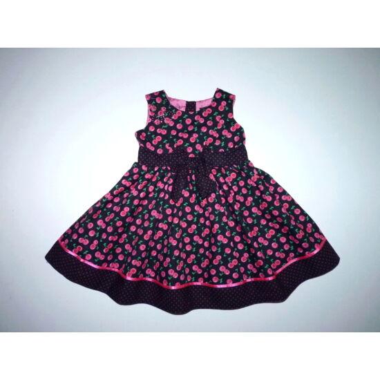80/86-os csodaszép ujjatlan kislány ruha