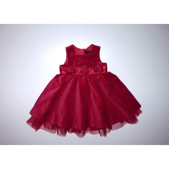 74-es Next Signature gyönyörű piros alkalmi ruha tüllfodorral