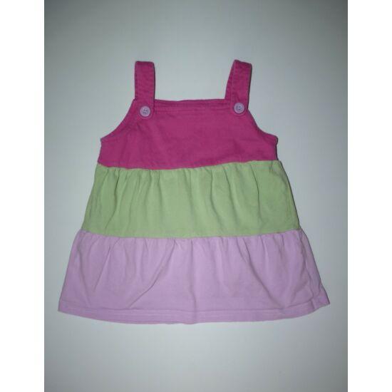 68/74-es könnyű pamut nyári ruha