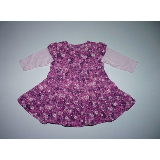 56/62-es tündéri puha, dupla hatású virágos ruha