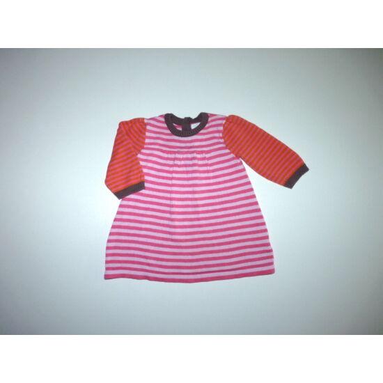 62-es tündéri kötött csíkos kislány ruha, tunika