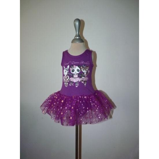 Új, 92/98-as lila balerina body tüll szoknyával