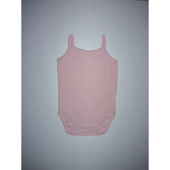 92-es rózsaszín kislány ujjatlan pamut body, trikó body