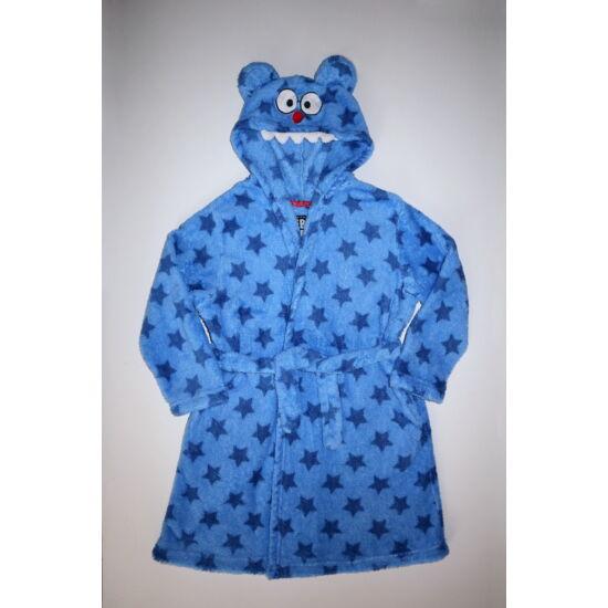 122-es vagány kék szörnyes fürdőköpeny, köntös