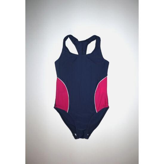 128-as csinos kék-ciklámen fürdőruha, úszódressz