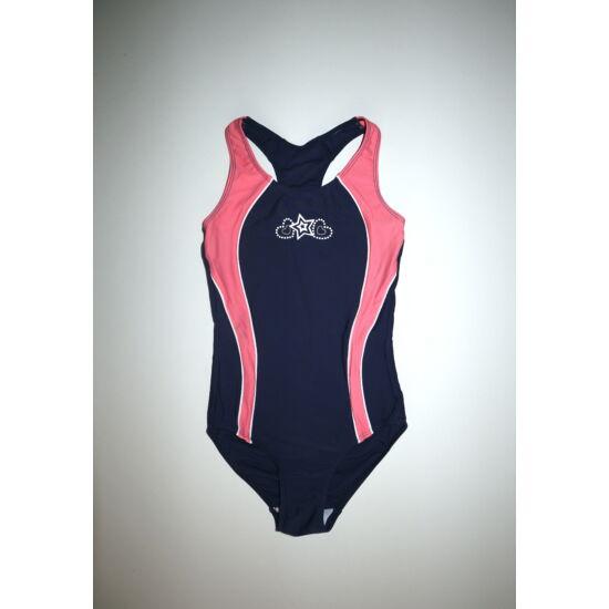 122-es sötétkék rózsaszín úszódressz, fürdőruha