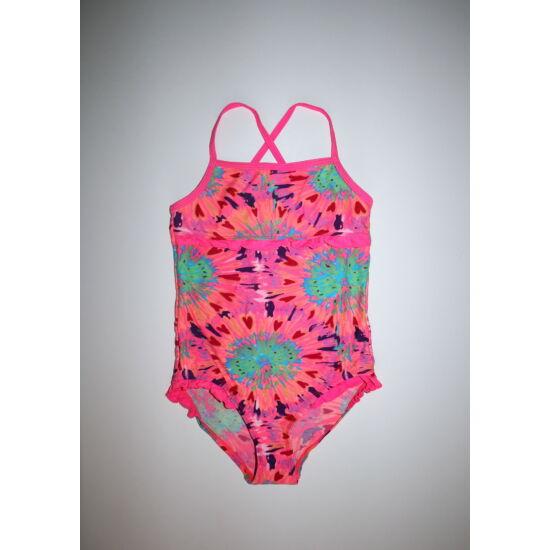 116-os Next neon mintás, fodros kislány fürdőruha