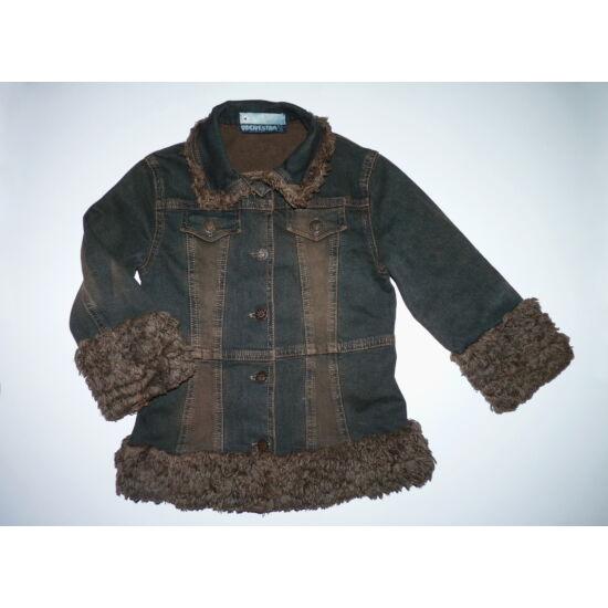 104-es különleges koptatott kislány farmerkabát