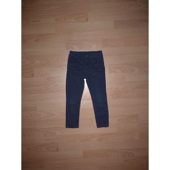 104-es Denim divatos, szűk szárú sötétkék kislány farmernadrág