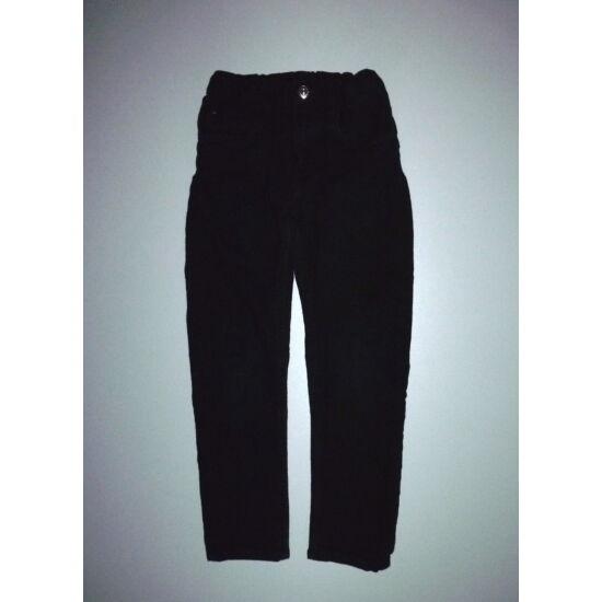 110/116-os H&M Slim Fit fekete farmernadrág