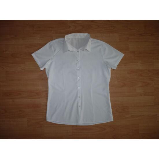 c76ee3761c 152/158-as fehér rövid ujjú blúz - 152 - Lurkoshop gyerekruha webshop