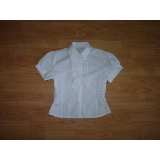 d2ba612736 158-as csinos, fehér rövid ujjú alkalmi blúz - Pólók, felsők ...