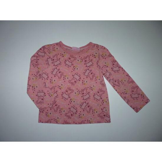 92/98-as rózsaszín Peppa Pig felső