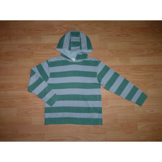 4e5cf0695d 140-es Marks&Spencer vagány, szürke-zöld kapucnis felső - Kardigánok ...