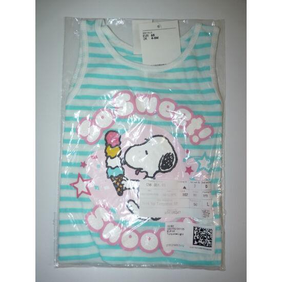 68-as H&M Snoopy mintás ujjatlan felső / trikó - új