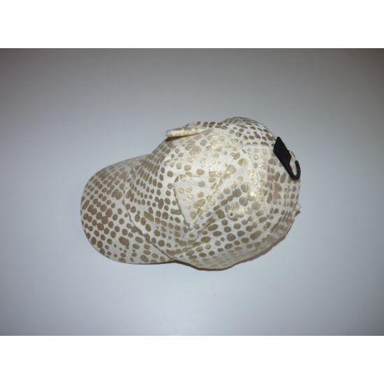 92/104-es H&M vagány arany pöttyös baseball sapka - új