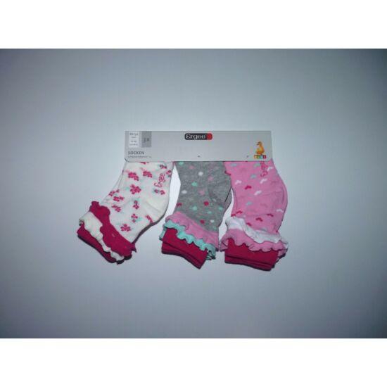 86/92-es 3 darabos kislány zokni csomag - új