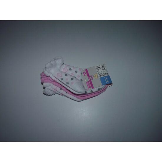 74/80-as 3 darabos kislány zokni csomag - új