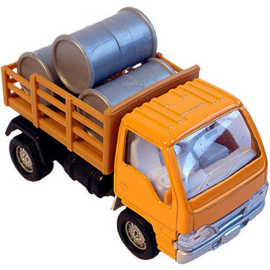 Hátrahúzható fém kisteherautó hordókkal - Fiú játékok - Lurkoshop ... 46cd631348