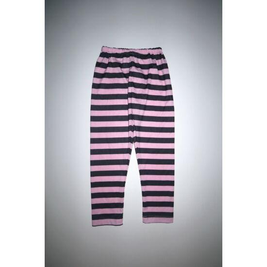 Rózsaszín-fekete csíkos jelmez nadrág - 4-6 év