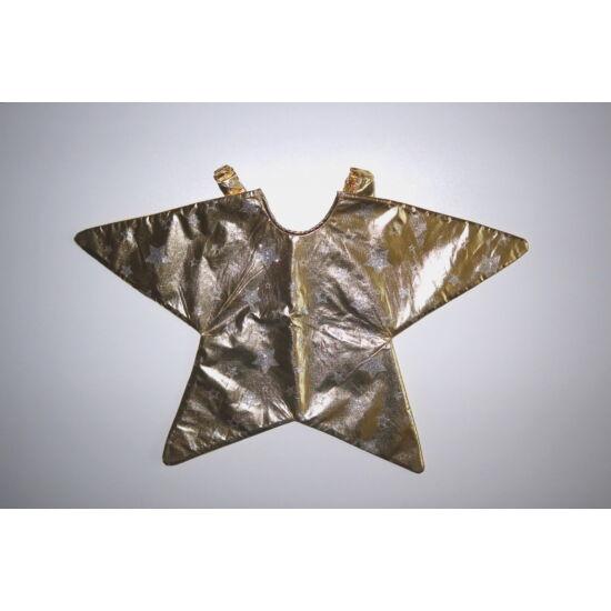 98/116-os TU arany Csillag / Angyalka jelmez kiegészítő