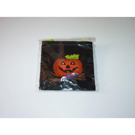 Új, tök mintás fekete kistáska halloween jelmez kiegészítő