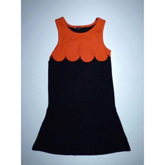 110/116-os csinos fekete-narancs Halloween tökruha, jelmez