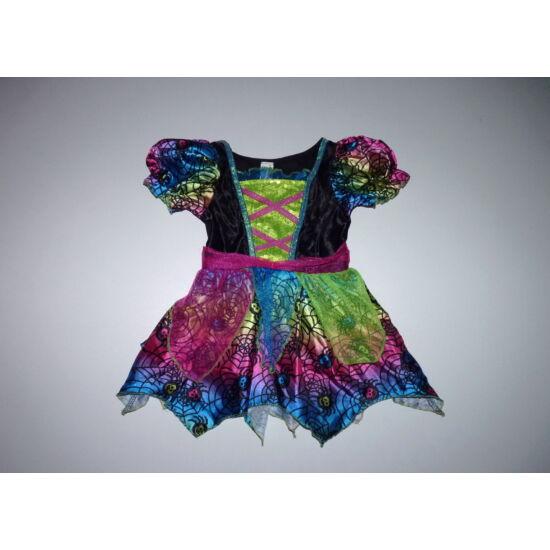 86/92-es csajos színes flitteres boszorkány jelmez ruha ELKELT