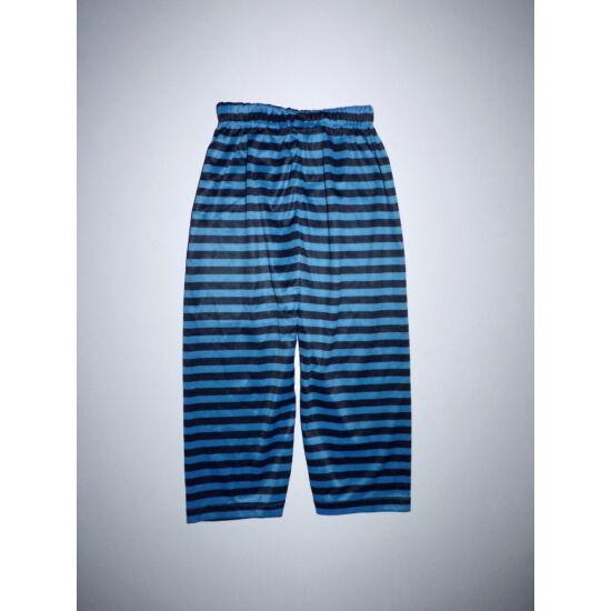 80/92-es kék-fekete csíkos jelmez nadrág